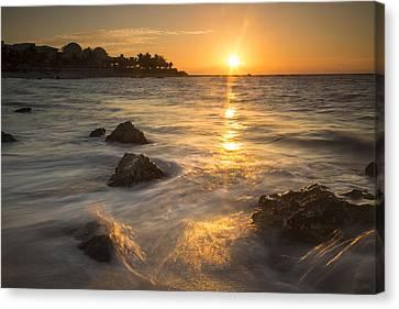 Mayan Coastal Sunrise Canvas Print by Adam Romanowicz