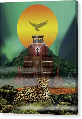 Mayan Jaguar Extinction Is Forever Canvas Print by John Fronza