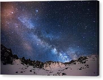Mayflower Gulch Milky Way Canvas Print by Darren  White
