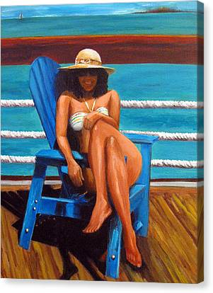 Mayi Caribe - I Wish You Were Here Canvas Print by Patricia Awapara
