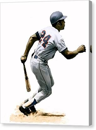Mays  Willie Mays Canvas Print by Iconic Images Art Gallery David Pucciarelli