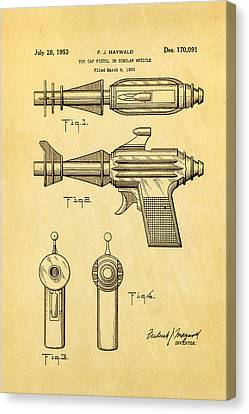 Maywald Toy Cap Gun Patent Art  2 1953 Canvas Print by Ian Monk