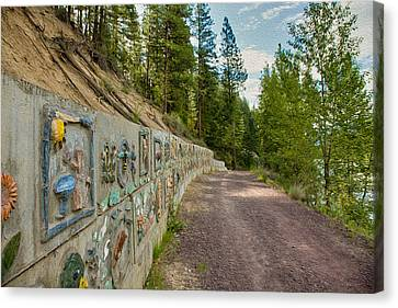 Mazama Suspension Bridge Trail Canvas Print by Omaste Witkowski