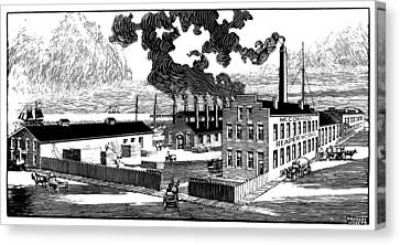 Mccormick Works, 1847 Canvas Print by Granger