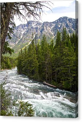 Mcdonald Creek In Glacier Np-mt Canvas Print by Ruth Hager