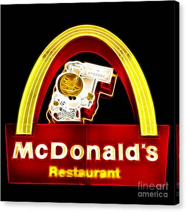 Mcdonalds - Electric Canvas Print by Wingsdomain Art and Photography