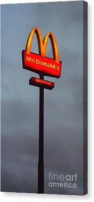 Mcdonald's - Painterly - V2 Canvas Print by Wingsdomain Art and Photography