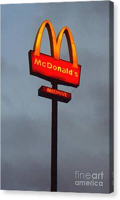 Mcdonald's - Painterly - V2b Canvas Print by Wingsdomain Art and Photography