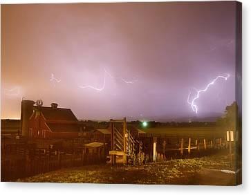 Mcintosh Farm Lightning Thunderstorm View Canvas Print by James BO  Insogna