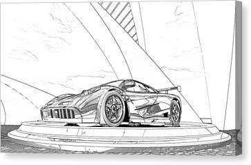 Mclaren F1 Sketch Canvas Print by Louis Ferreira