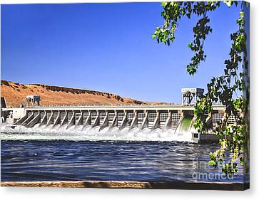 Mcnary  Hydroelectric Dam Canvas Print by Robert Bales