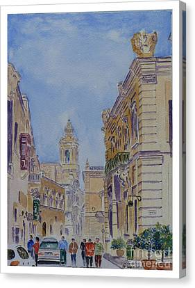 Mdina Malta Canvas Print by Godwin Cassar