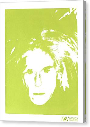 Me And Andy Canvas Print by Monica Warhol