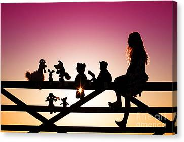 Me And My Friends Canvas Print by Tim Gainey