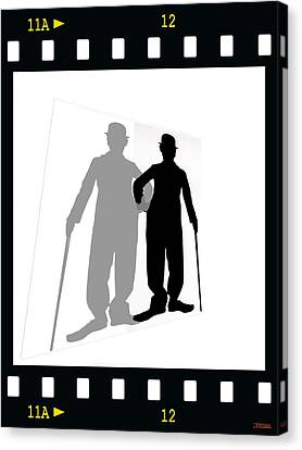 Me And My Shadow Canvas Print by Jann Paxton