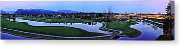 Meadow Gardens Golf Club Canvas Print by Wesley Allen Shaw