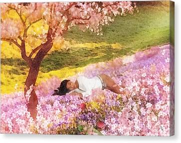 Meadows Of Heaven Canvas Print by Mo T