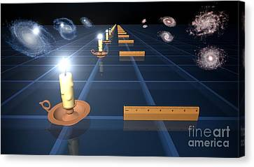 Measuring The Expanding Universe, Artwork Canvas Print by Nasa