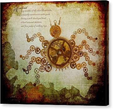 Mechanical - Arachnid Canvas Print by Fran Riley
