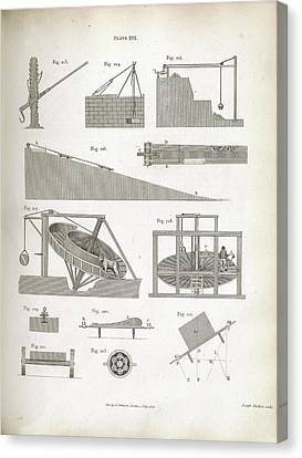 Mechanics Of Lifting Devices Canvas Print by Royal Institution Of Great Britain
