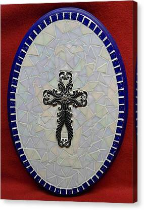 Medallion With Cross Canvas Print by Fabiola Rodriguez
