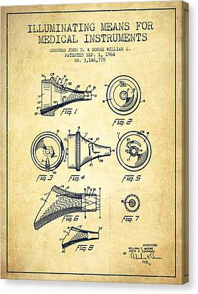 Medical Instrument Patent From 1964 - Vintage Canvas Print by Aged Pixel