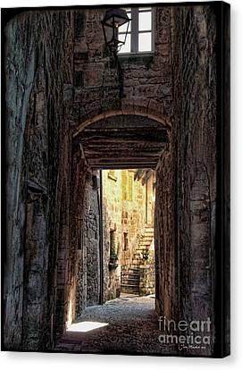 Medieval Alley Canvas Print by Joan  Minchak