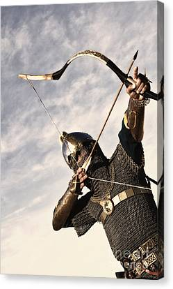 Medieval Archer Canvas Print by Holly Martin