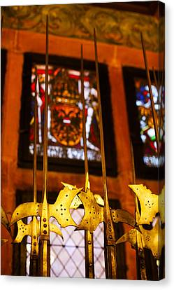 Medieval Armory, Chateau Du Canvas Print by Panoramic Images