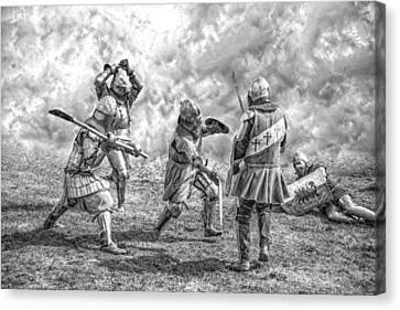 Medieval Battle Canvas Print by Jaroslaw Grudzinski