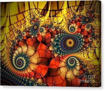 Medieval Ceremonial-fractal Art Canvas Print by Karin Kuhlmann