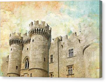Medieval City Of Rhodes Canvas Print by Catf