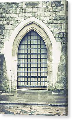 Medieval Door Canvas Print by Tom Gowanlock