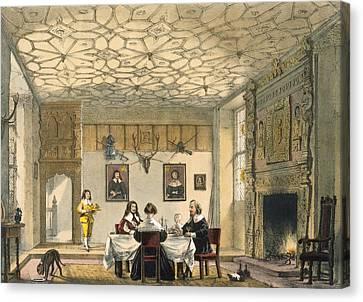 Medieval Family Supper, Wakehurst Canvas Print by Joseph Nash