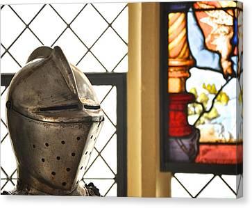 Medieval Helmet Canvas Print by Matt MacMillan