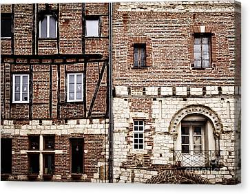 Medieval Houses In Albi France Canvas Print by Elena Elisseeva