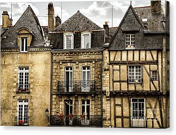 Medieval Houses In Vannes Canvas Print by Elena Elisseeva