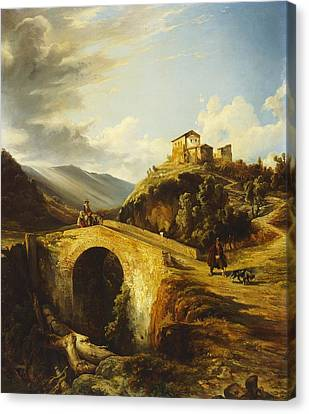 Medieval Landscape Canvas Print by Gonsalvo Carelli