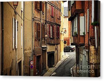 Medieval Street In Albi France Canvas Print by Elena Elisseeva
