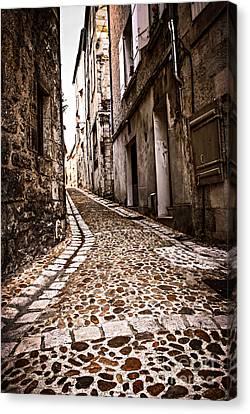 Medieval Street In France Canvas Print by Elena Elisseeva