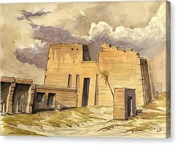 Medinet Temple Egypt Canvas Print by Juan  Bosco