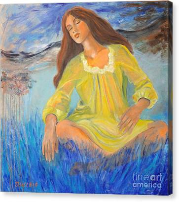 Meditation Canvas Print by Dagmar Helbig