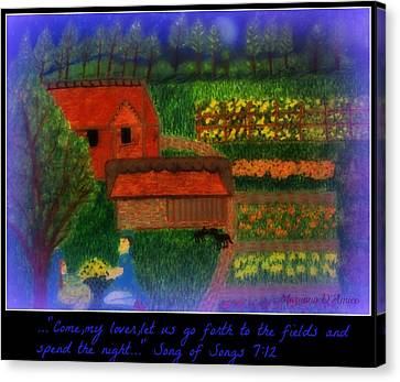Meditation Number 4 Song Of Songs Canvas Print by Maryann  DAmico
