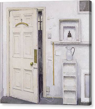 Meditation On A Door I Canvas Print by Charles E Hardaker