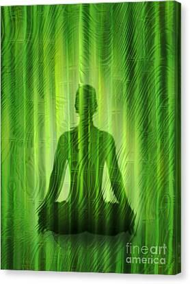 Meditation Waves Canvas Print by Lutz Baar