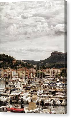 Mediterranean Coastal Town Of Cassis Canvas Print by Georgia Fowler