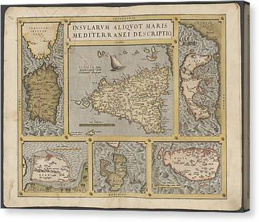 Mediterranean Islands Canvas Print by British Library