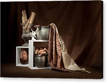 Medley Of Textures Still Life Canvas Print by Tom Mc Nemar