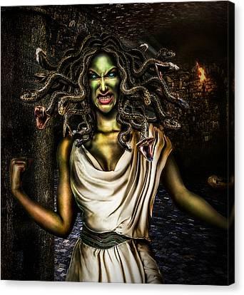Medusa Canvas Print by Alessandro Della Pietra