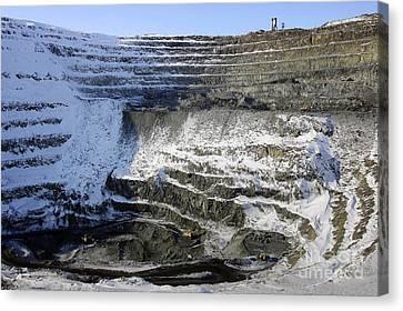 Medvezhy Ruchei Quarry In Siberia Canvas Print by RIA Novosti